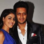 Riteish Deshmukh and Genelia DSouza at their wedding bash hosted by Sajid Nadiadwala at Royalty 150x150 Genelia Dsouza and Riteish Deshmukh Wedding Pics and Video